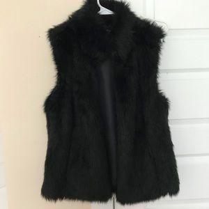 Michael Kors Black Fur Vest, Size Large
